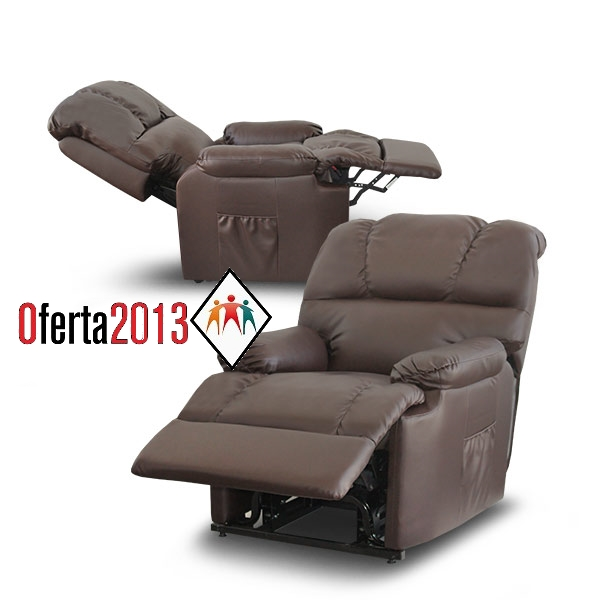 Sill n relax masaje reclinable manual deluxe polipiel - Sillones reclinables precios ...