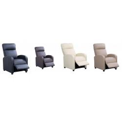Sillón Relax Reclinable Natural Compact Premium | Diseño Anti-Estrés Envolvente