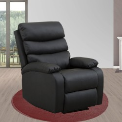 Sillón Relax Masaje Reclinable Manual - Calor Lumbar - 8 Motores De Vibración -Full Pu Máxima Calidad