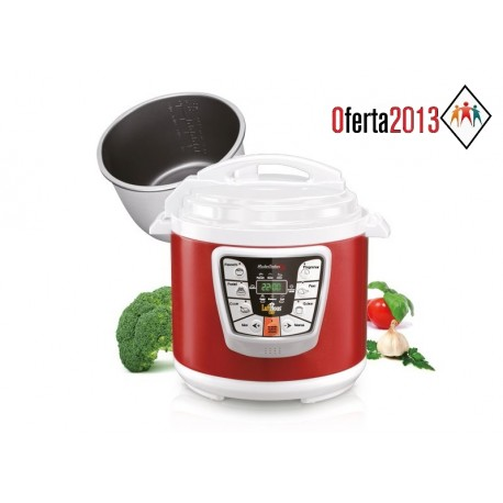 Olla Eléctrica programable Master Cooker Red Lufthous